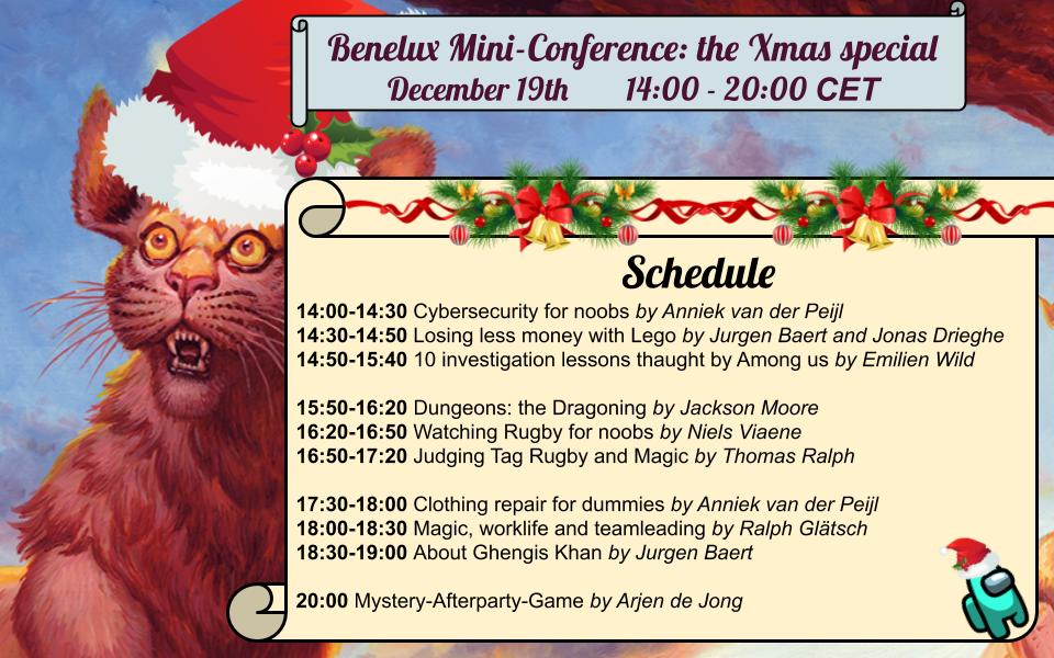 Benelux mini-conference: the Xmas Special